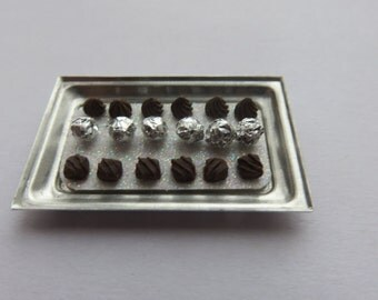 Dolls House Miniature Tray of Handmade Chocolates