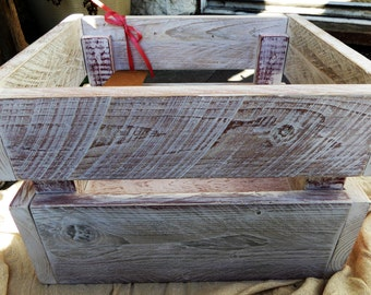 Shabby Chic Reclaimed wood Heavy Duty Box Crate (Personalised)