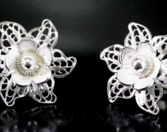 Blossom - stud earrings 925 sterling silver - 6036