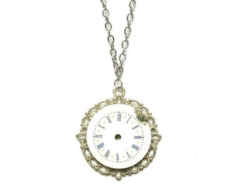 Watch Dial Necklace // Steampunk Jewelry // Steampunk Necklace