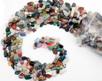 Tumbled gemstones-2lbs - 4lbs Tiny Natural Semi Precious Gemstone-Small Tumbled Stones Bulk Assorted Mix- Great for crafts - jewelry making