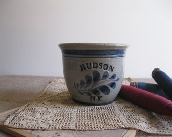 Vintage Hudson NY Pottery-Country Chic Cobalt Blue Display Piece...Reshopgoods