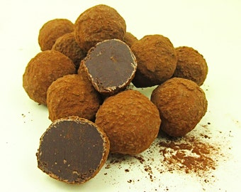 Dark chocolate cream truffles 250 grams, Birthday idea