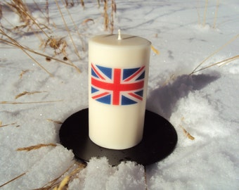 British Union Jack Flag ScentedPalm Wax Candle