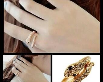 60% OFF Gold Snake Ring