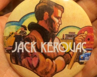 "JACK KEROUAC On The Road Beat Generation 2.25"" button"