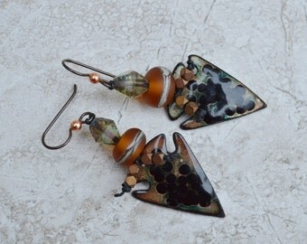Boho knotted earrings SpurwinkRiverArts - TanyaMcGuire - DayLilyStudio