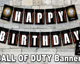 CALL OF DUTY - Banner– Digital file, Call Of Duty party, cod party's decoration, Action games, War party, Video Games, Black Ops party
