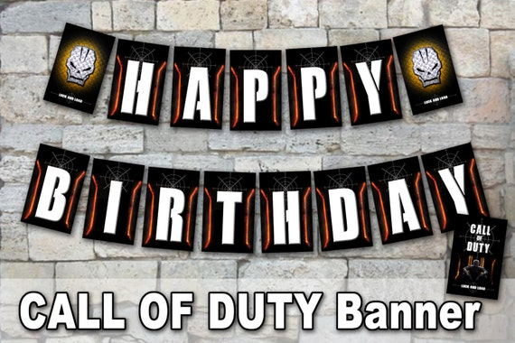CALL OF DUTY Banner Digital File Call Of Duty Party Cod