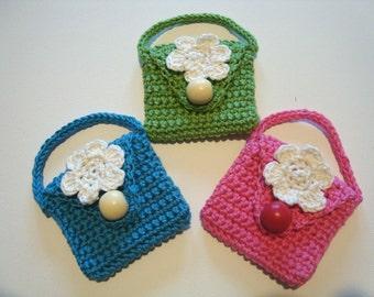 crochet purse girl's change purse change pouch UK