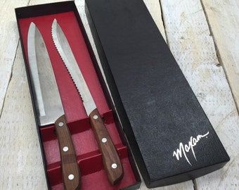 vintage chef knife etsy set of 2 maxam knives chef knife carving japan stainless
