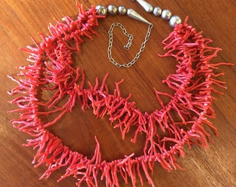 Branched Coral Double Strand Necklace