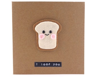 I Love You card, Cute Anniversary Card, Pun Funny Card