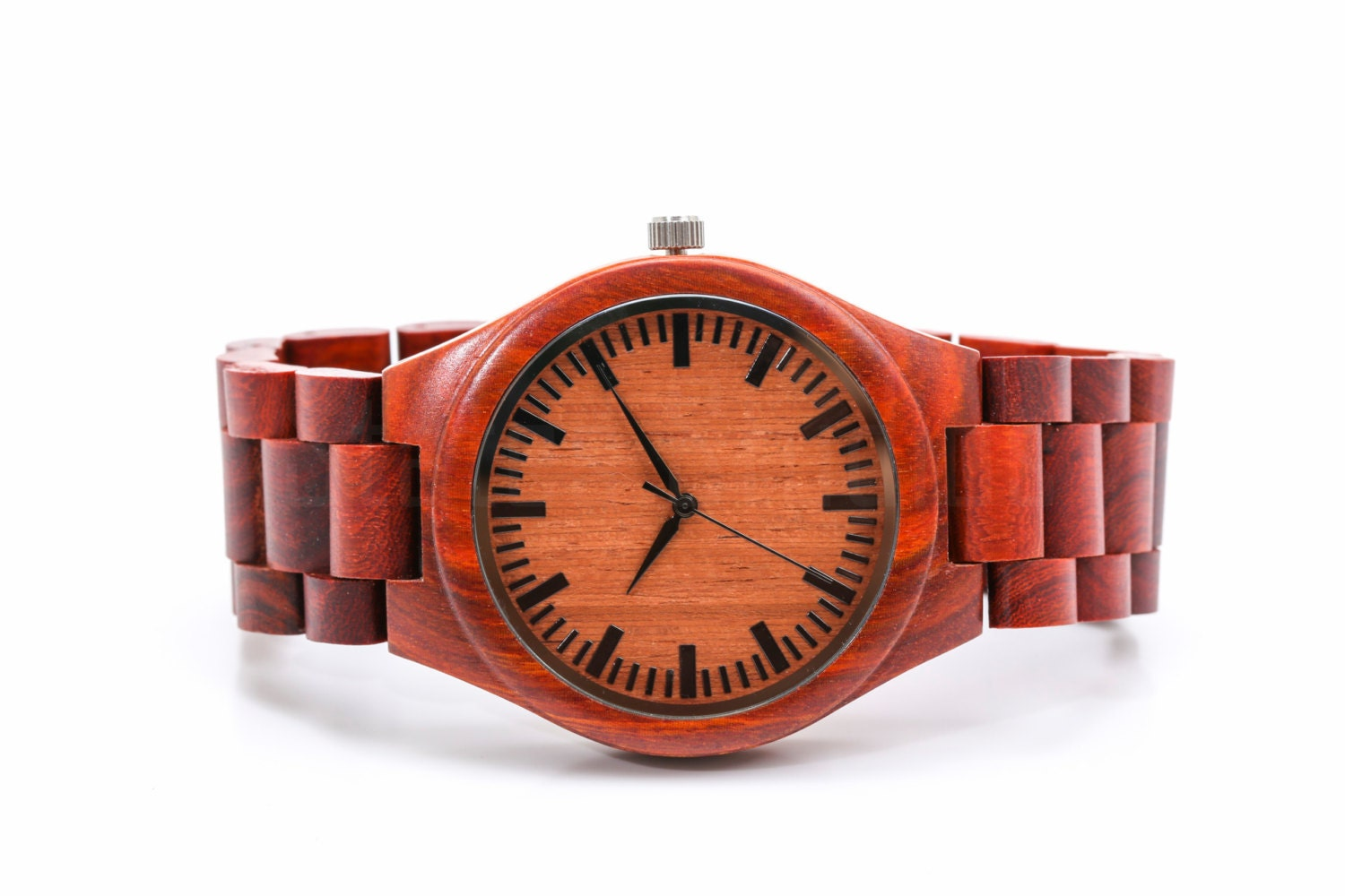 Custom fathers day gift engraved wooden watch mens watches for Watches engraved