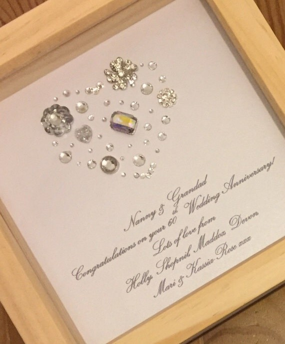 Diamond Wedding Anniversary Gift: 60th Diamond Wedding Anniversary Gift By LoveTwilightSparkles