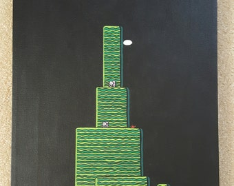 Super Mario Bros 2 Painting 12x16 with Acrylic.