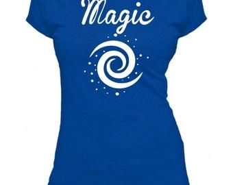 Magic. Swirl. Ladies fitted t-shirt.