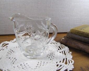 Pressed Glass Creamer - Starburst