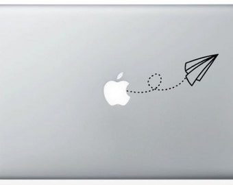 Origami plane to MacBook stickers