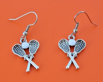 LACROSSE STICKS EARRINGS,lacrosse,lax,lacrosse team,lacrosse player,lacrosse coach,lacrosse mom,lacrosse gift,1589