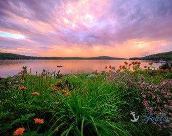 Serenity ~ Lake Winnipesaukee, Meredith, New Hampshire, Church Landing, Lake Photography, Rainbow, Wall Decor, Joules, Artwork