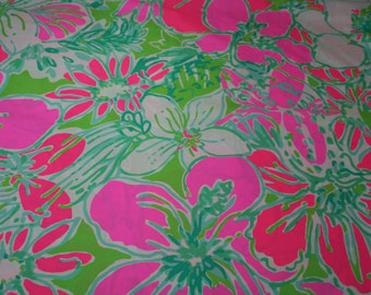 "Lilly Pulitzer fabric ~2016~""CLUCK""~  Cotton/Poplin"