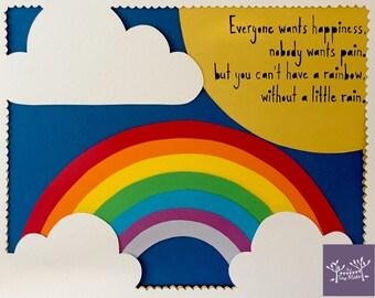 FRAMED Papercut - Rainbows