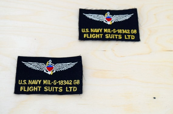 Military patches for flight suits