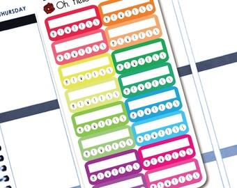 16 Rainbow Habit Tracker Stickers - Planner Stickers for Erin Condren Life Planners - B8