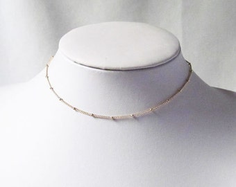 choker, satellite chain gold, silver satellite necklace, layering necklace,simple jewelry