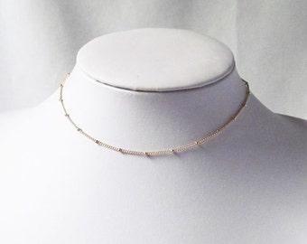 thin chain choker, necklace choker,satellite choker, satellite necklace, satellite chain,, gold dainty choker, silver satellite necklace,