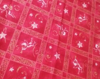 Decorative fabric.Birthday decor.Angels print