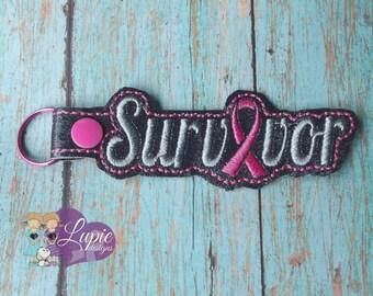 Survivor Keychain (Pink Ribbon)