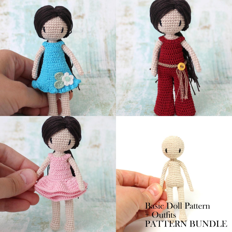 Amigurumi Girl Tutorial : Crochet Doll Pattern Amigurumi Doll PDF by PinkMouseBoutique