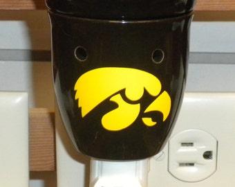 Plug in Iowa Hawkeye Tart Warmer with Two Free Packages of Soy Breakaway Tarts