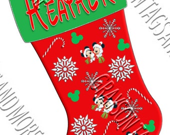 """Shop """"disney christmas stocking"""" in Art & Collectibles"""