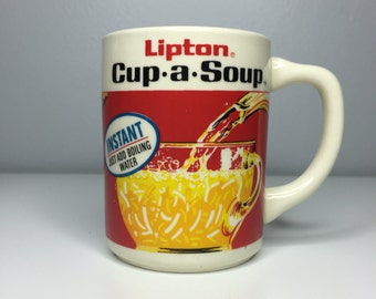 vintage Lipton cup-a-soup mug