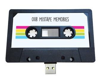 4GB/8GB/16GB USB Mixtape - Retro Christmas Gift - Love, Couple, Birthday, Boyfriend, Girlfriend, Bestfriend , Husband, Wife - Flash Drive
