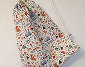 New! Childs Swim Bag  Camping Fox fabric. Made in Cornwall.