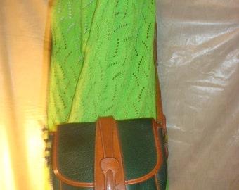 Green/Brown Leather Dooney and Bourke Cross Body Shoulder Bag