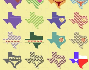 Texas SVG Cut Files, Texas Chevron, Texas SVG, Longhorn svg, dxf, ai, eps, png, Texas Decor, Texas Chevron Monogram SVG, Texas