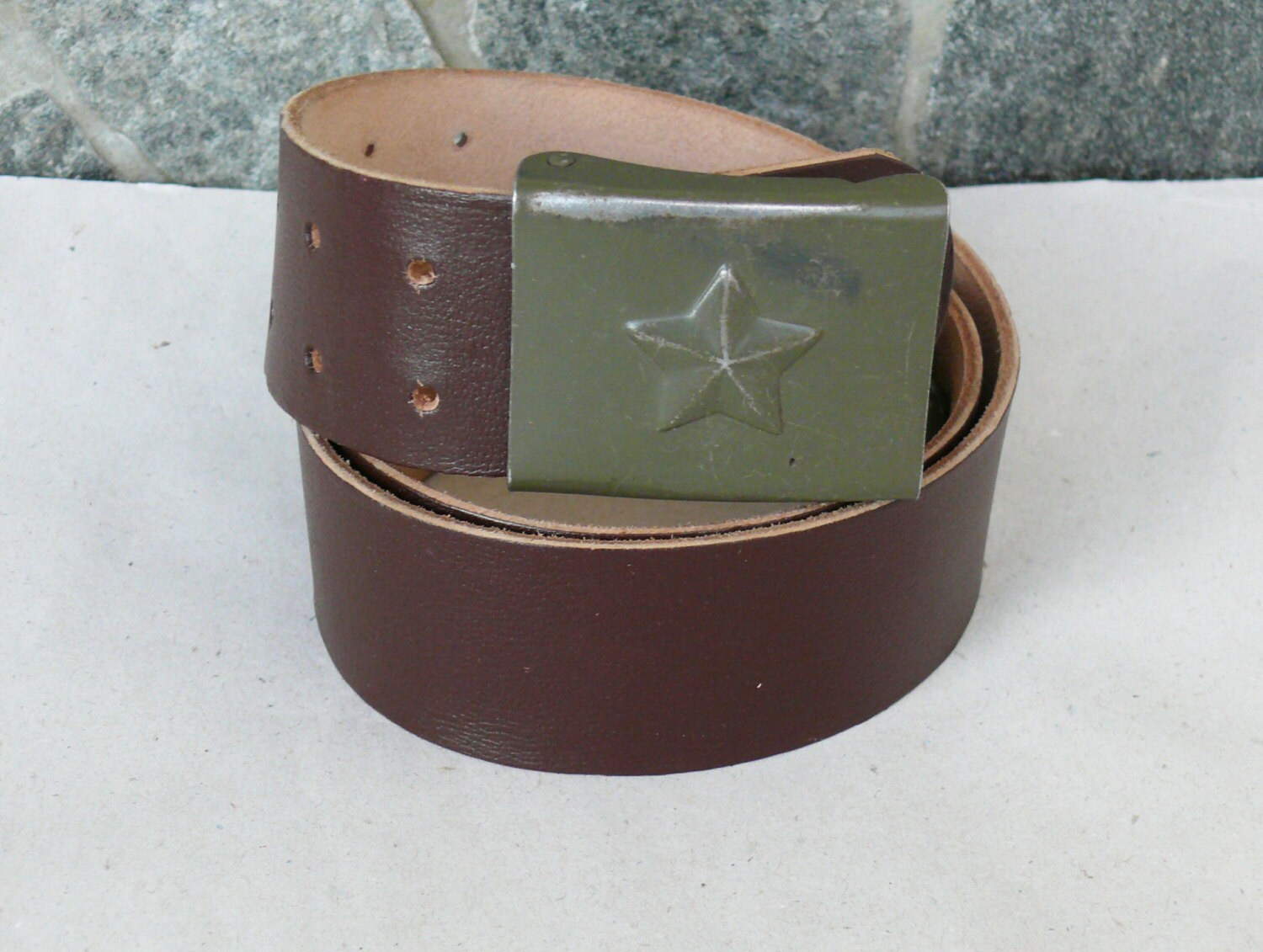 vintage leather belt belt with a by