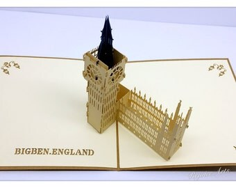 3D Pop Up Big Ben Card