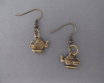 SteamPunk Teapot & Teacup Earrings