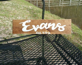 Last name signs, wedding gifts, personalized wood signs, wedding signs