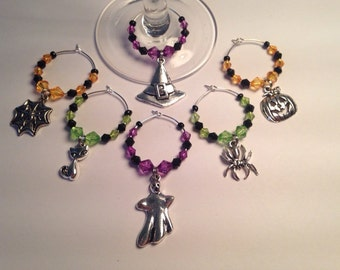 Halloween Wine Glass Charm Set (6)