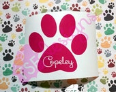 Paw Print with Custom Nam...