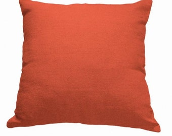Plain Linen Cushion- Orange Cushion- Plain Cushion- Orange Pillow- Plain Pillow- Orange Throw Pillow- Linen Cushion- Cushion Cover