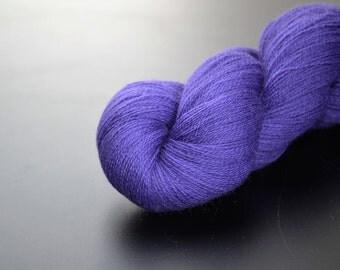 100% merino lace yarn in violet