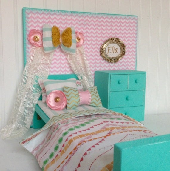 Bow Banner American Girl Doll Bedroom Set 18 Doll By Head2heart